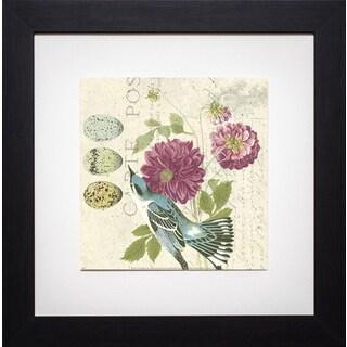 Paula Scaletta 'Bird Study 4' Framed Artwork