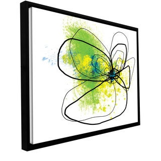 Jan Weiss 'Citron Petals' Floater-framed Gallery-wrapped Canvas