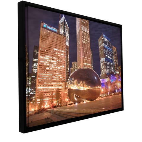 Dan Wilson 'Chicago- The Bean I' Floater-framed Gallery-wrapped Canvas