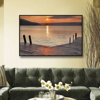 Steve Ainsworth 'Another Kekua Sunrise' Floater-framed Gallery-wrapped Canvas