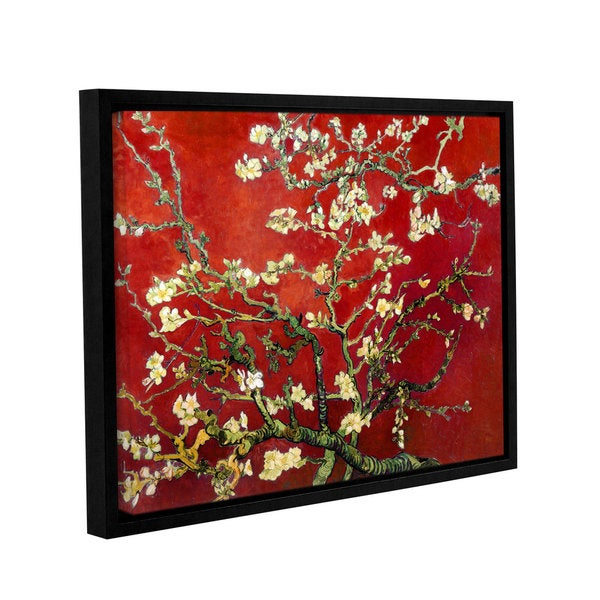 c10f944aaf4c Shop Vincent van Gogh s  Almond Blossom  In Red Floater-Framed ...