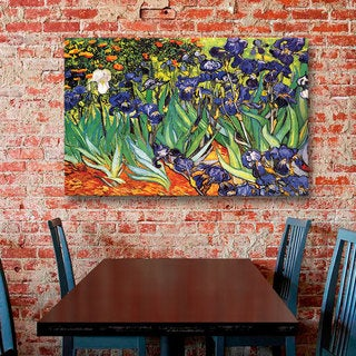 Vincent van Gogh 'Irises in the Garden' Floater-framed Gallery-wrapped Canvas