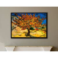 Vincent van Gogh 'Mulberry Tree' Floater-framed Gallery-wrapped Canvas - multi