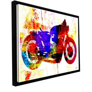 Greg Simanson 'Moto III' Floater-framed Gallery-wrapped Canvas