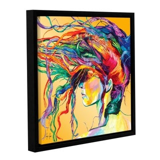 Linzi Lynn 'Windswept' Floater-framed Gallery-wrapped Canvas Wall Art - Orange/Purple/Red