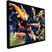 George Zucconi 'Koi' Floater-framed Gallery-wrapped Canvas - Multi