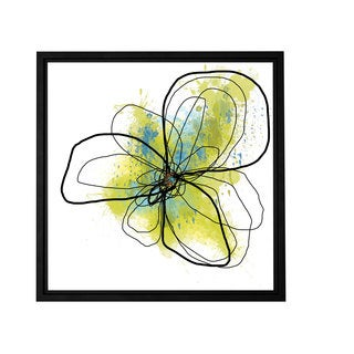 Jan Weiss 'Citron Petals II' Floater-framed Gallery-wrapped Canvas