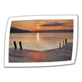 Steve Ainsworth 'Another Kekua Sunrise' Unwrapped Canvas - Brown/Orange/White