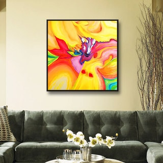 Susi Franco 'Secret Life of Lily' Floater-framed Gallery-wrapped Canvas