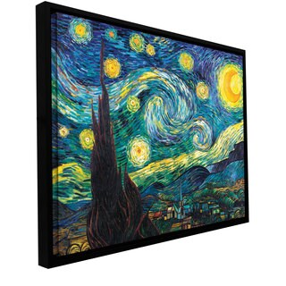 Vincent VanGogh 'Starry Night' Floater-framed Gallery-wrapped Canvas - multi