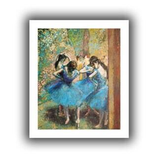 Edgar Degas 'Dancers in Blue' Unwrapped Canvas
