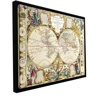 Samuel Dunn 'Mappe-Monde Carte Universelle de la Terre Dressee' Floater-framed gallery-wrapp - multi