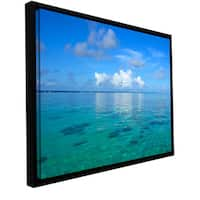 George Zucconi 'Lagoon and Reef' Floater-framed Gallery-wrapped Canvas