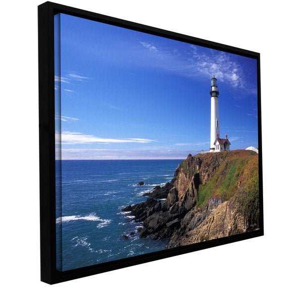 Kathy Yates 'Pigeon Point Lighthouse' Floater-framed Gallery-wrapped Canvas - Multi