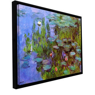 Claude Monet 'Sea Roses' Floater-framed Gallery-wrapped Canvas