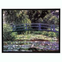 Claude Monet 'Bridge at Sea Rose Pond' Floater-framed Gallery-wrapped Canvas
