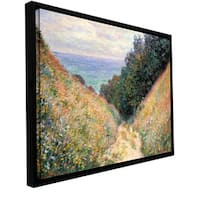 Claude Monet 'Footbath' Floater-framed Gallery-wrapped Canvas - Multi