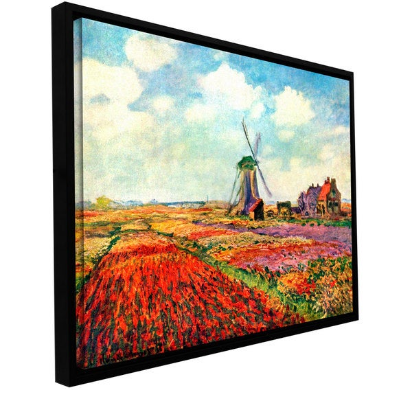 Claude Monet 'Windmill' Floater-framed Gallery-wrapped Canvas
