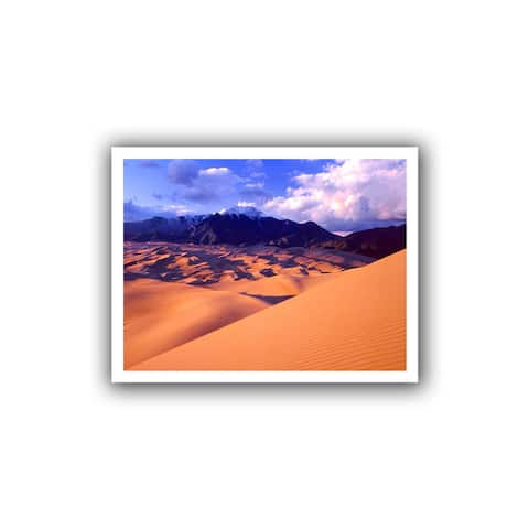 Dean Uhlinger 'Great Sand Dunes' Unwrapped Canvas - Multi