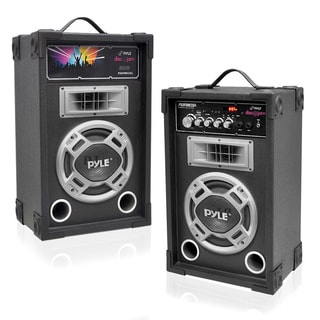 Pyle Bluetooth Disco Jam Powered 2-way Speaker System with FM Radio