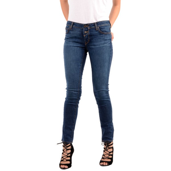 Rich &amp Skinny Women&39s Powerhouse Blue Button-up Skinny Jeans
