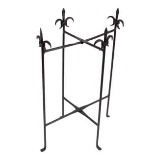 Fleur de Lis Iron Stand for Oval Tubs