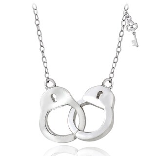 Link to Mondevio Sterling Silver or Gold Over Silver Handcuff Necklace Similar Items in Necklaces