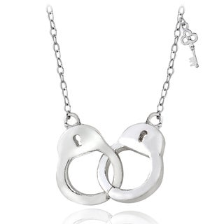 Mondevio Sterling Silver or Gold Over Silver Handcuff Necklace