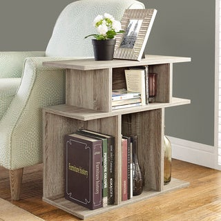 Dark Taupe Reclaimed-look 24-inch Accent Side Table