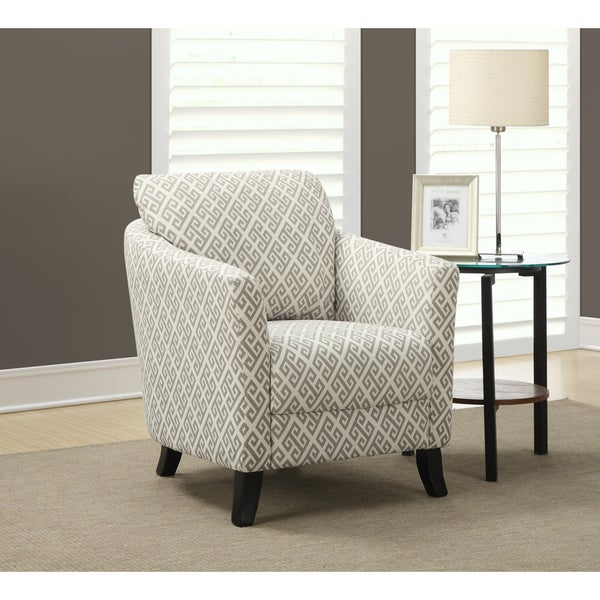 Shop Sandstone And Grey Maze Fabric Accent Chair