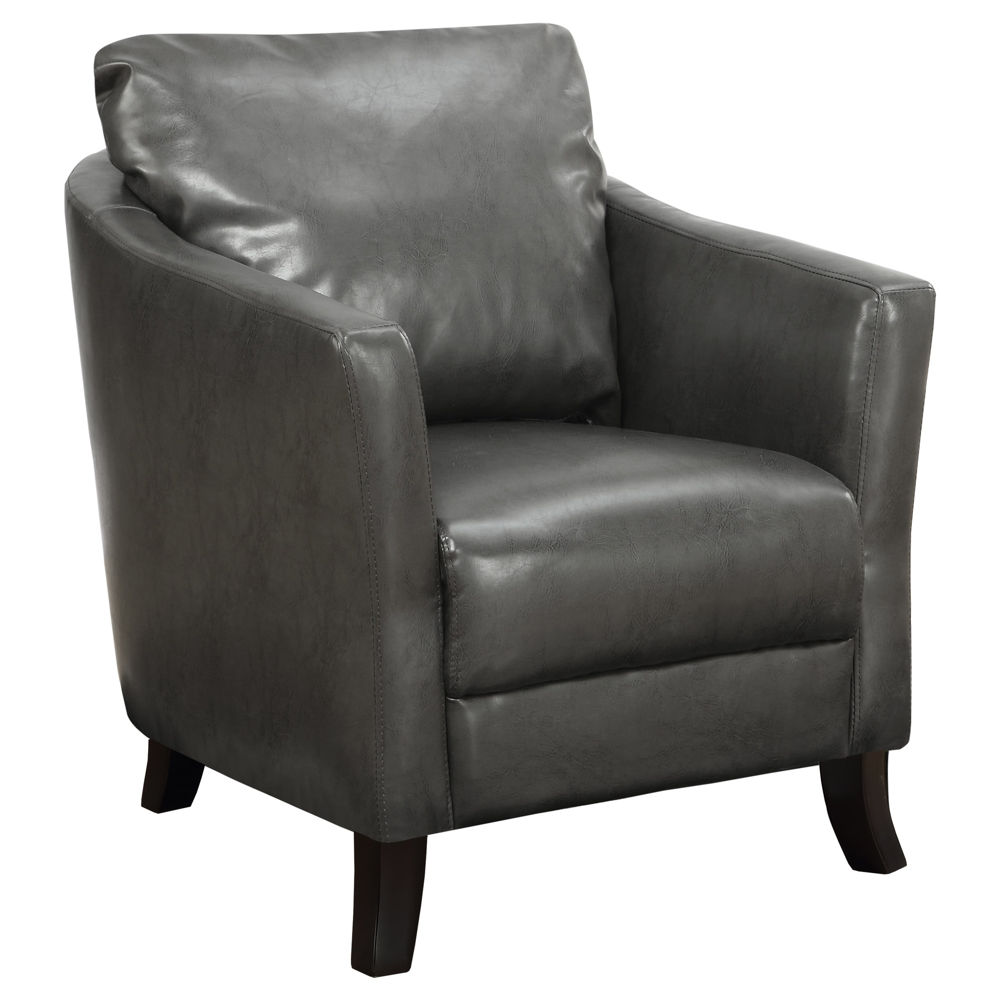 Monarch Charcoal Grey Leather-look Accent Chair (Fabric)