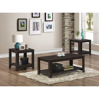 Cappuccino 3-piece Table Set