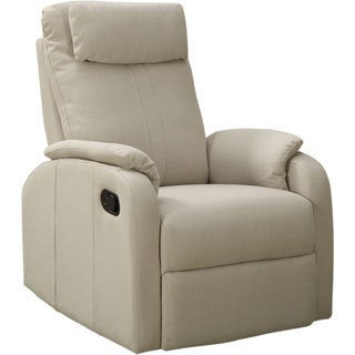 Sand Linen Fabric Swivel Rocker Recliner