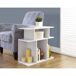 Porch & Den Saxon White Accent Side Table