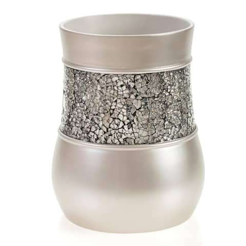 Brushed Nickel Wastebasket