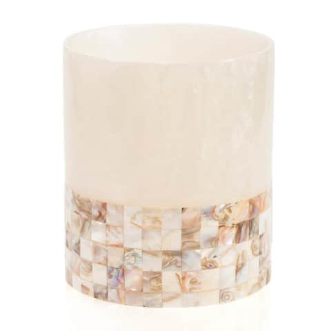 Milano Mother of Pearl Tone Wastebasket