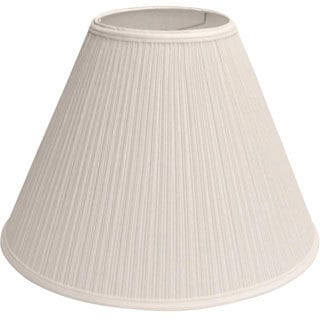 Large Bright White Pleated Empire Lamp Shade