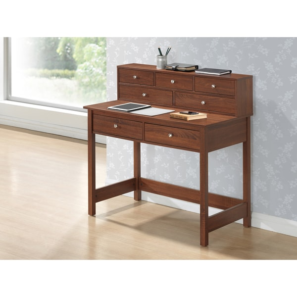 Modern Designs Home Office Writing Desk with Shelf - Free Shipping