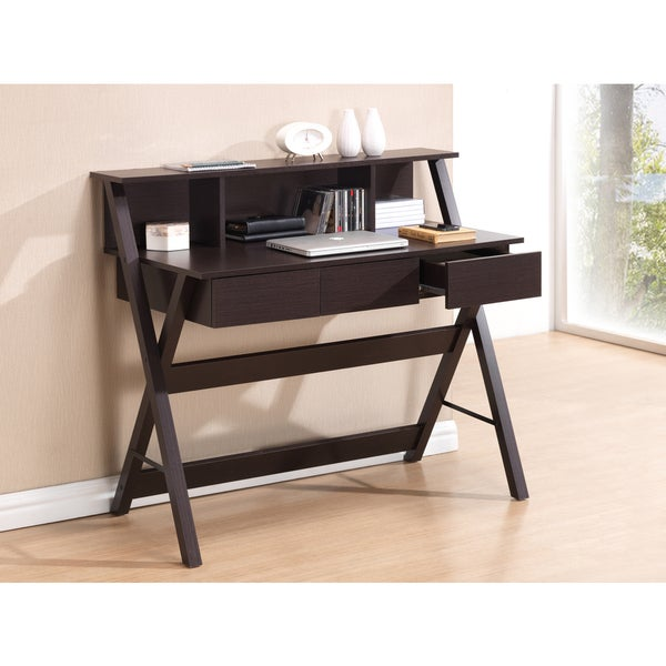 Modern Designs X-Leg Home Office Desk with Shelf - 16547499