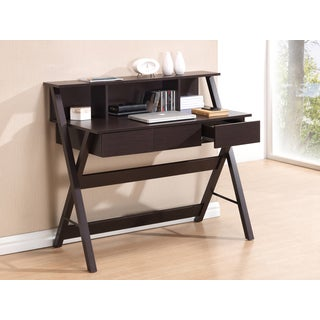 Modern Designs X-Leg Home Office Desk with Shelf