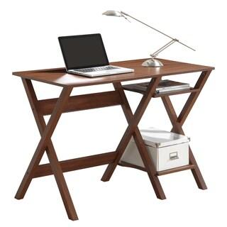 Modern Designs X-Leg Workstation Desk with Side Shelves