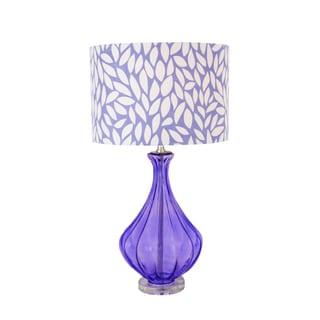 Purple Rain Glass Acrylic Accent Table Lamp