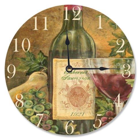Grapes of Tuscany Vanity Clock