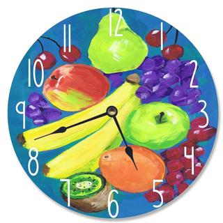 Mixed Fruit Vanity Clock