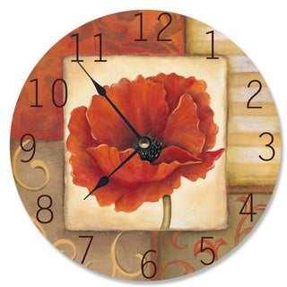 Orange Poppy Vanity Clock