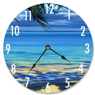 Palm Tree Shadows Vanity Clock