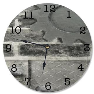 Gray Industrial Vanity Clock