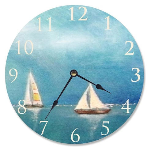 Azure Breeze Sailboat Vanity Clock