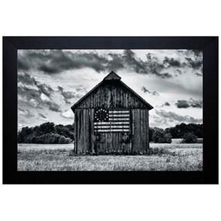 Martin Smith 'Country Barn' Framed Artwork - Red