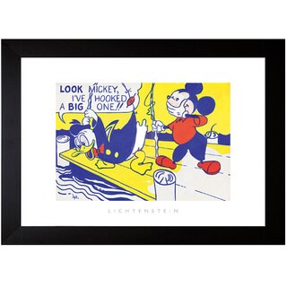 Roy Lichtenstein 'Look Mickey, 1961' Framed Art Print
